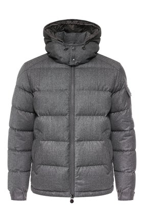 Мужская пуховая куртка MONCLER серого цвета, арт. E2-091-40338-05-54272 | Фото 1
