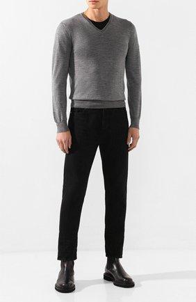 Мужской пуловер из шерсти и шелка GRAN SASSO серого цвета, арт. 57115/13190 | Фото 2