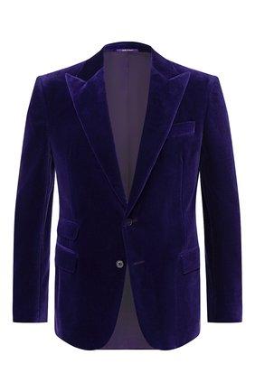 Мужской хлопковый пиджак RALPH LAUREN фиолетового цвета, арт. 798772413 | Фото 1