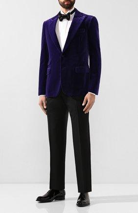 Мужской хлопковый пиджак RALPH LAUREN фиолетового цвета, арт. 798772413 | Фото 2