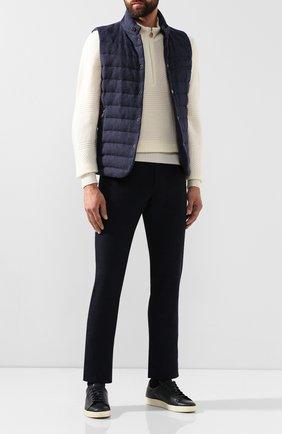 Мужской хлопковые брюки BRIONI темно-синего цвета, арт. SPNK0L/08060/STELVI0 | Фото 2