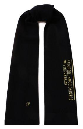 Мужской шарф из смеси шерсти и кашемира RAF SIMONS темно-синего цвета, арт. 192-845-50006 | Фото 1