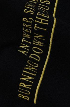 Мужской шарф из смеси шерсти и кашемира RAF SIMONS темно-синего цвета, арт. 192-845-50006 | Фото 2