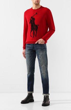 Мужской шерстяной джемпер POLO RALPH LAUREN красного цвета, арт. 710766113 | Фото 2