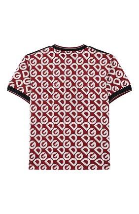 Детская хлопковая футболка DOLCE & GABBANA бордового цвета, арт. L4JT9F/G7TXB/8-14 | Фото 2