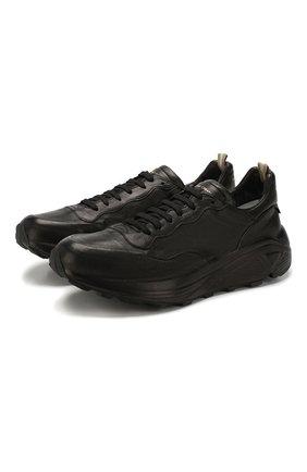 Мужские кожаные кроссовки OFFICINE CREATIVE черного цвета, арт. SPHYKE/001/FRIDA REF. | Фото 1