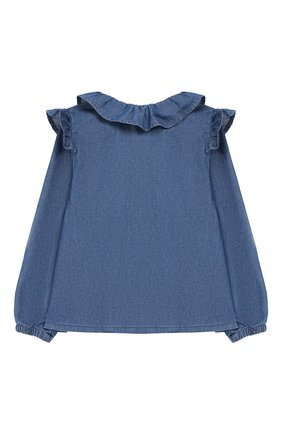 Детское джинсовая блузка SONIA RYKIEL ENFANT синего цвета, арт. 19W1SH02 | Фото 2