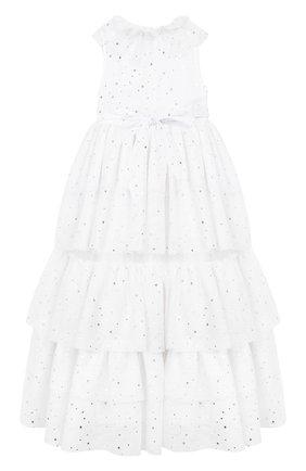Детское платье SONIA RYKIEL ENFANT белого цвета, арт. 19W1DR21   Фото 2