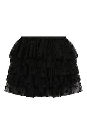 Детская юбка SONIA RYKIEL ENFANT черного цвета, арт. 19W1SK08   Фото 2