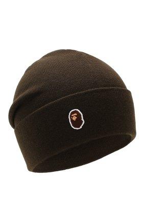 Мужская шапка BAPE хаки цвета, арт. 1F80180005 | Фото 1