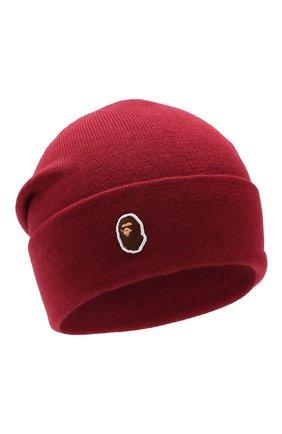 Мужская шапка BAPE красного цвета, арт. 1F80180005 | Фото 1