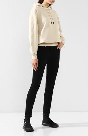 Женские текстильные кроссовки valentino garavani go logo VALENTINO черного цвета, арт. SW2S0G61/LSU   Фото 2