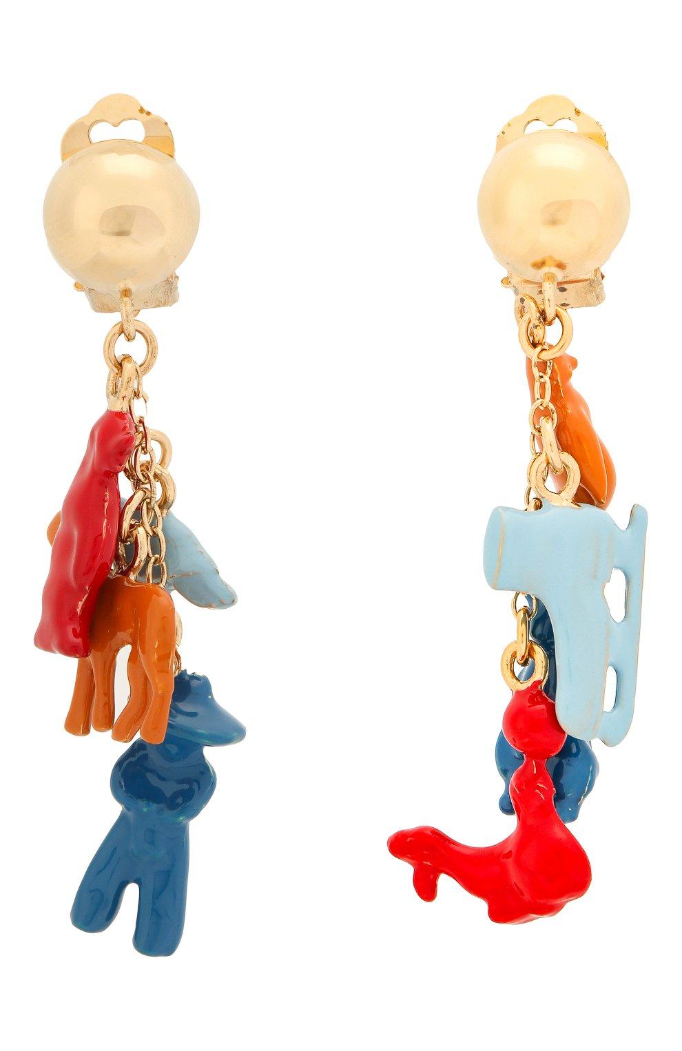 Женские серьги-клипсы MARNI красного цвета, арт. 0RMV0110A0/M2000 | Фото 1