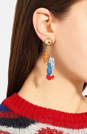 Женские серьги-клипсы MARNI красного цвета, арт. 0RMV0110A0/M2000 | Фото 2