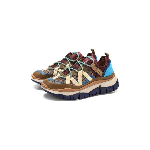Комбинированные кроссовки Blake Chloé — Комбинированные кроссовки Blake
