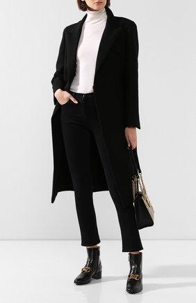 Женские кожаные ботинки horsebit GUCCI черного цвета, арт. 592519/D3V00 | Фото 2