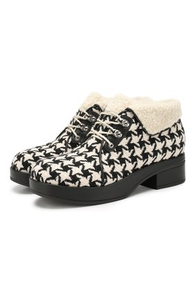Женские ботинки victor GUCCI черно-белого цвета, арт. 591039/HR210 | Фото 1