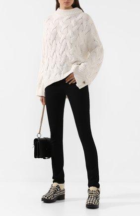 Женские ботинки victor GUCCI черно-белого цвета, арт. 591039/HR210 | Фото 2