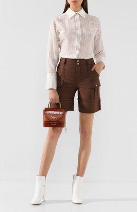 Женская сумка abylock small CHLOÉ коричневого цвета, арт. CHC19WS220A87   Фото 2