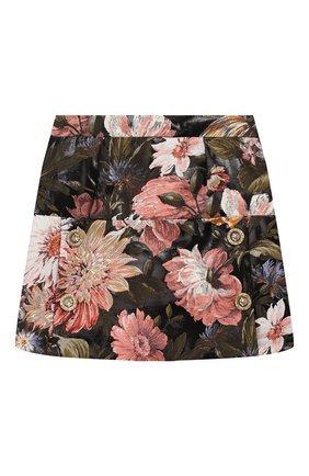 Детская юбка DOLCE & GABBANA разноцветного цвета, арт. L53I37/HJMF6/2-6 | Фото 1