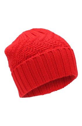 Женский кашемировая шапка ADDICTED красного цвета, арт. MK923 | Фото 1