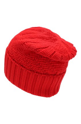 Женский кашемировая шапка ADDICTED красного цвета, арт. MK923 | Фото 2