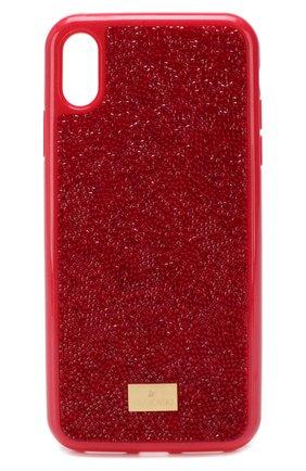 Мужской чехол для iphone xs max SWAROVSKI красного цвета, арт. 5481454 | Фото 1