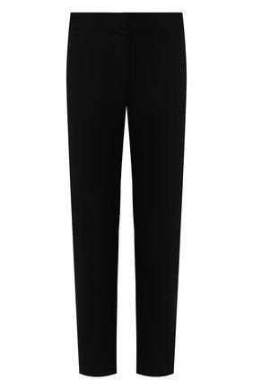 Женские шерстяные брюки GIORGIO ARMANI черного цвета, арт. 9WHPP08Z/T0028 | Фото 1 (Женское Кросс-КТ: Брюки-одежда; Материал внешний: Шерсть; Силуэт Ж (брюки и джинсы): Прямые; Длина (брюки, джинсы): Укороченные; Статус проверки: Проверена категория)