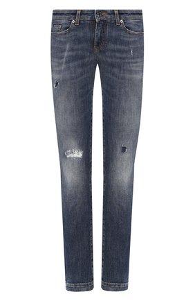 Женские джинсы с потертостями DOLCE & GABBANA синего цвета, арт. FTAH7D/G8BG8 | Фото 1