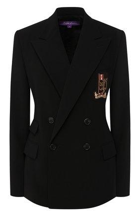Женский шерстяной жакет RALPH LAUREN черного цвета, арт. 290784704 | Фото 1