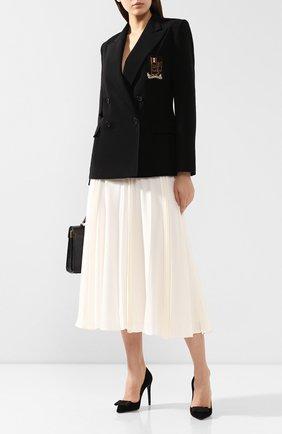 Женский шерстяной жакет RALPH LAUREN черного цвета, арт. 290784704 | Фото 2