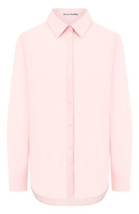 Женская хлопковая рубашка ACNE STUDIOS розового цвета, арт. AC0127 | Фото 1