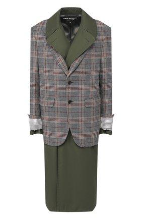 Пальто из смеси шерсти и лена   Фото №1
