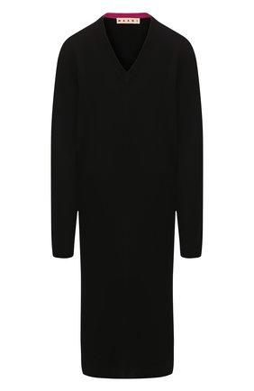 Женское кашемировое платье MARNI черного цвета, арт. ABMD0040Q0/FX305 | Фото 1