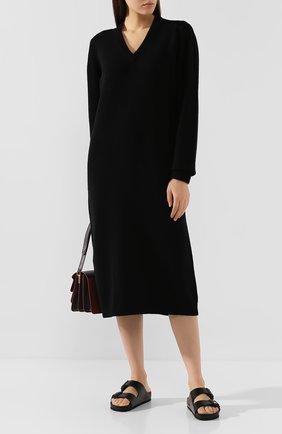 Женское кашемировое платье MARNI черного цвета, арт. ABMD0040Q0/FX305 | Фото 2