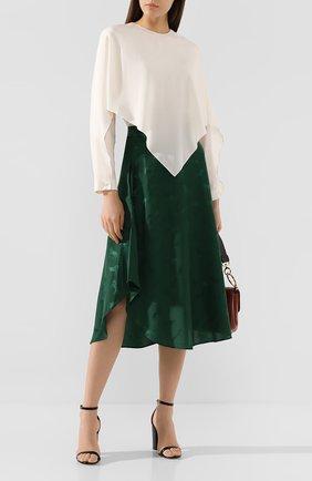 Женская шелковая блузка STELLA MCCARTNEY белого цвета, арт. 588870/SY206   Фото 2