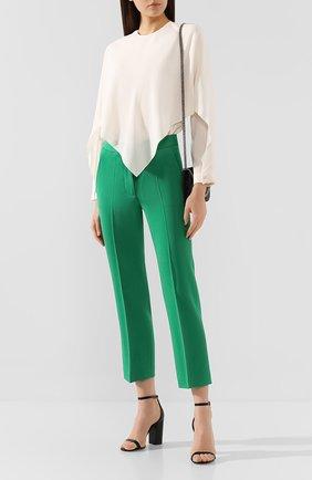 Женские шерстяные брюки STELLA MCCARTNEY зеленого цвета, арт. 529866/SNB42 | Фото 2