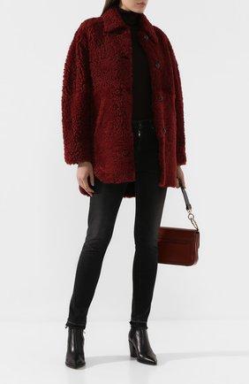 Женская меховое пальто sarvey ISABEL MARANT бордового цвета, арт. MA0627-19A001I/SARVEY | Фото 2