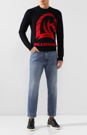 Мужской шерстяной свитер BILLIONAIRE темно-синего цвета, арт. MKO0679 | Фото 2