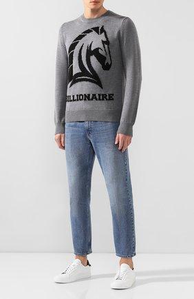 Мужской шерстяной свитер BILLIONAIRE серого цвета, арт. MKO0679 | Фото 2