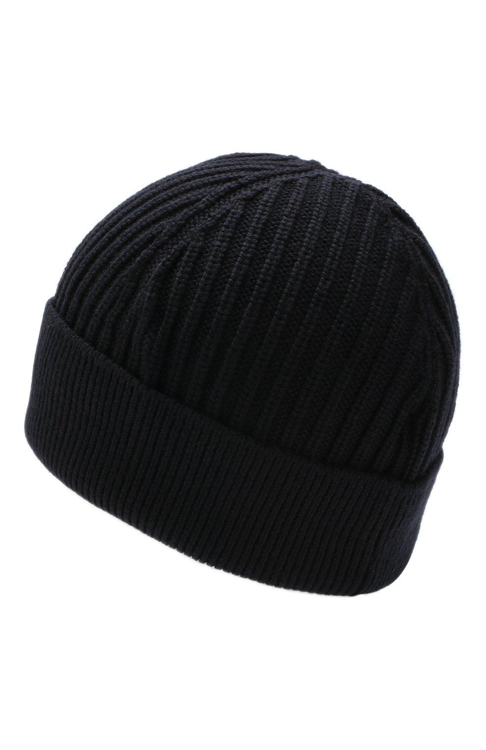 Мужская шерстяная шапка HUGO темно-синего цвета, арт. 50414419 | Фото 2