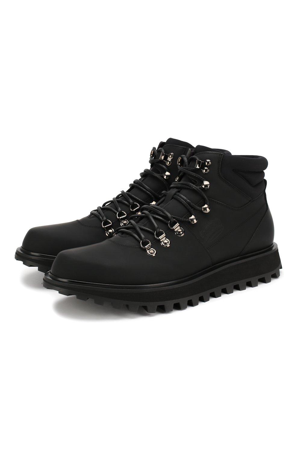 Мужские кожаные ботинки vulcano DOLCE & GABBANA черного цвета, арт. A60226/AA538 | Фото 1