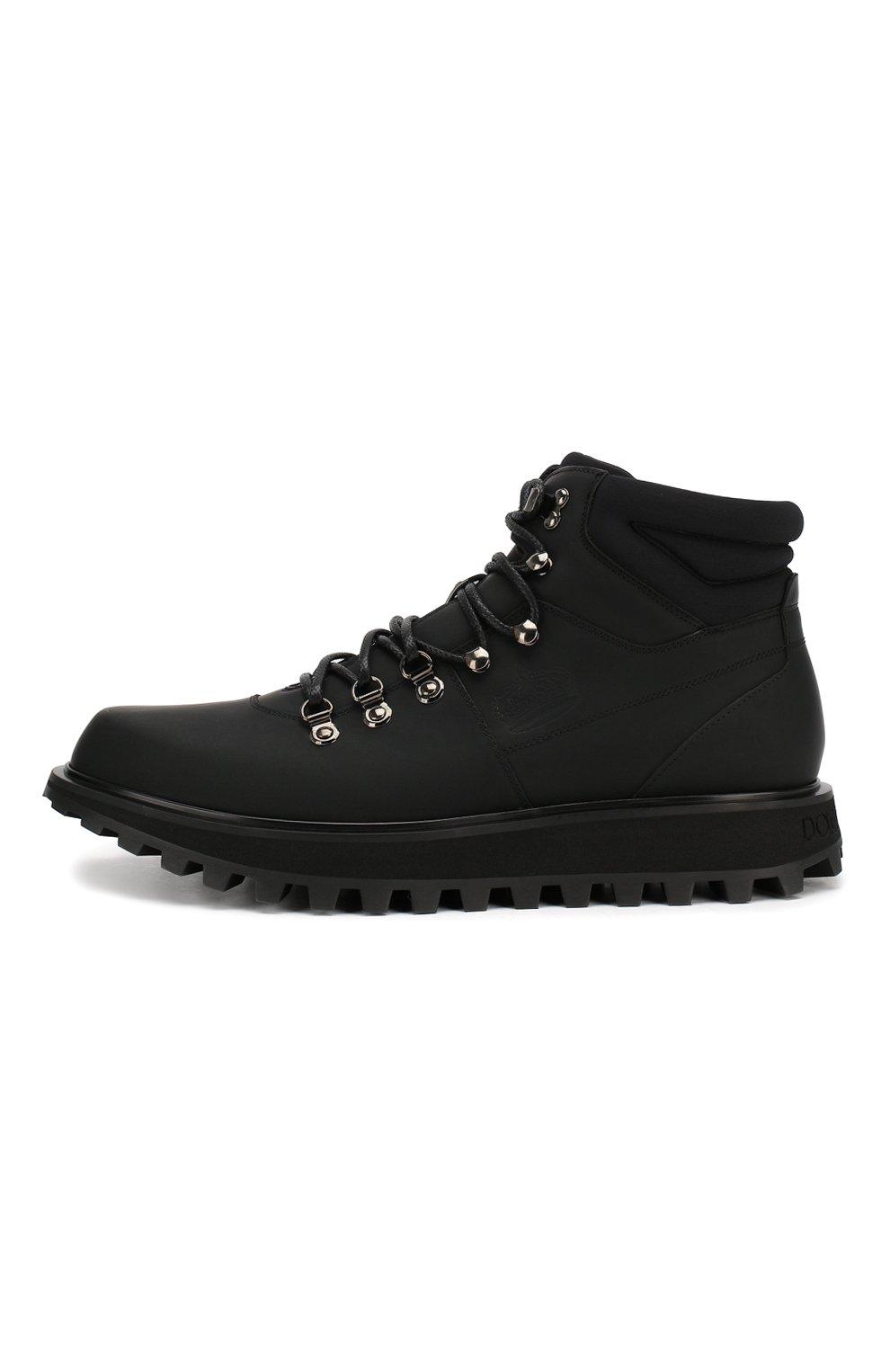 Мужские кожаные ботинки vulcano DOLCE & GABBANA черного цвета, арт. A60226/AA538 | Фото 3