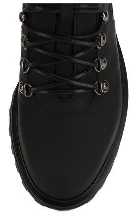 Мужские кожаные ботинки vulcano DOLCE & GABBANA черного цвета, арт. A60226/AA538 | Фото 5