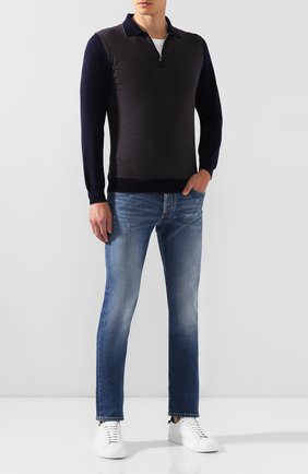 Мужское шерстяное поло SVEVO темно-синего цвета, арт. 13069SA19/MP13   Фото 2