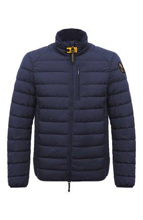 Мужская пуховая куртка ugo PARAJUMPERS темно-синего цвета, арт. SL04/UG0 | Фото 1 (Статус проверки: Проверена категория; Мужское Кросс-КТ: Пуховик-верхняя одежда, Верхняя одежда, пуховик-короткий; Длина (верхняя одежда): Короткие; Материал внешний: Синтетический материал; Рукава: Длинные; Материал утеплителя: Пух и перо; Материал подклада: Синтетический материал; Кросс-КТ: Пуховик, Куртка)