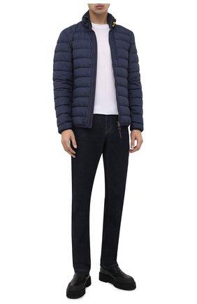 Мужская пуховая куртка ugo PARAJUMPERS темно-синего цвета, арт. SL04/UG0 | Фото 2 (Статус проверки: Проверена категория; Мужское Кросс-КТ: Пуховик-верхняя одежда, Верхняя одежда, пуховик-короткий; Длина (верхняя одежда): Короткие; Материал внешний: Синтетический материал; Рукава: Длинные; Материал утеплителя: Пух и перо; Материал подклада: Синтетический материал; Кросс-КТ: Пуховик, Куртка)