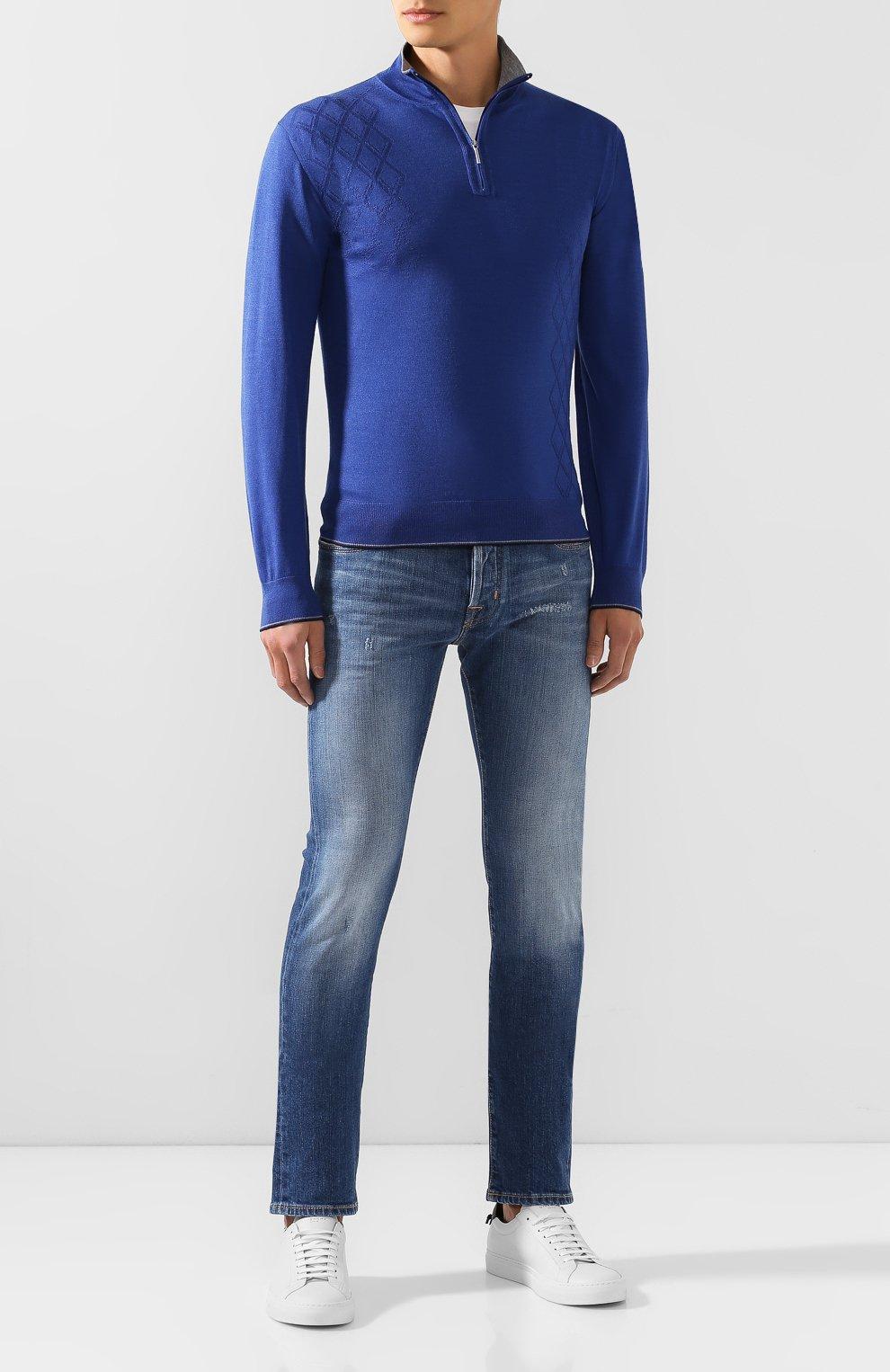 Джемпер из смеси шерсти и шелка | Фото №2