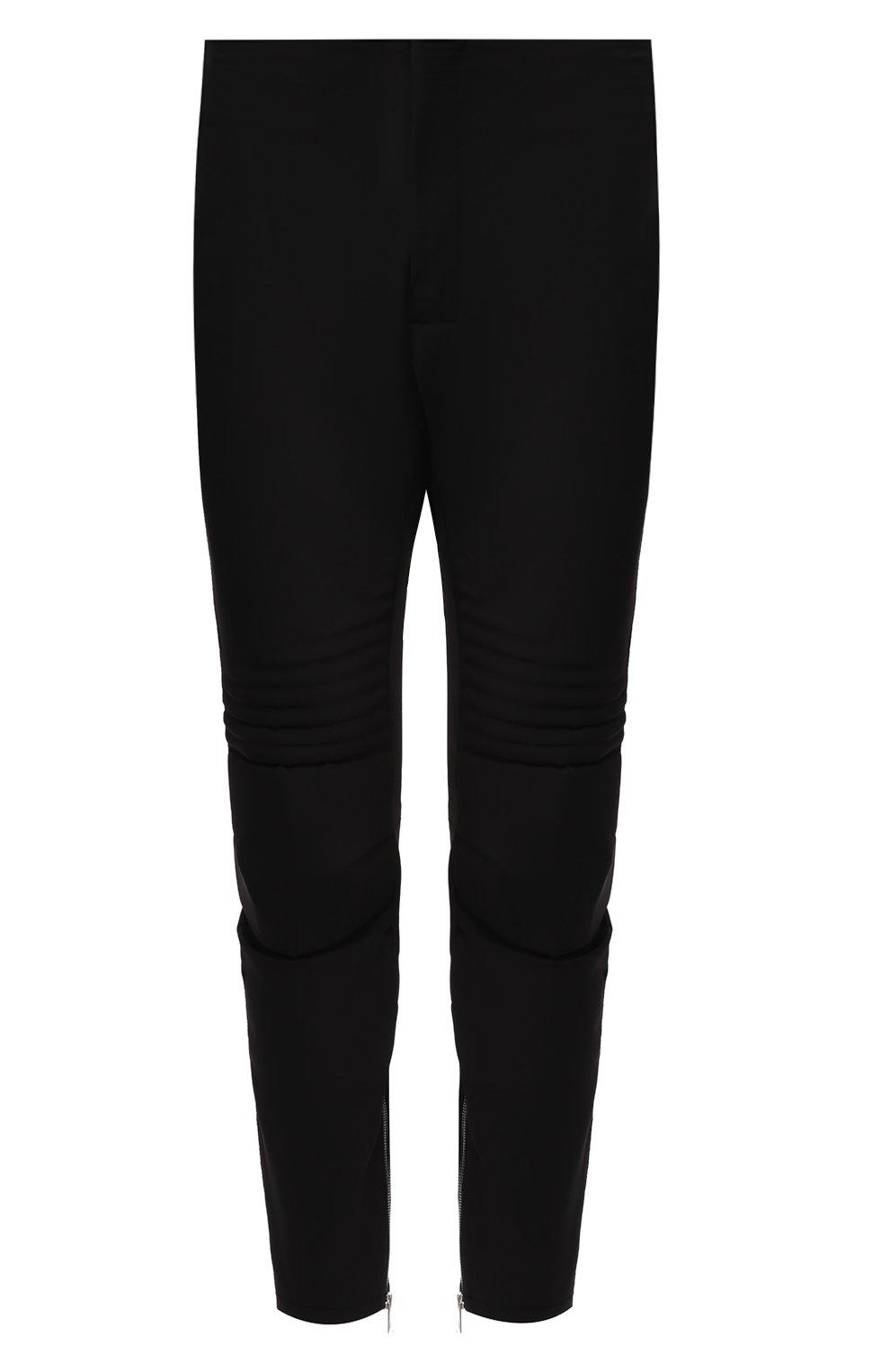 Мужские брюки BOTTEGA VENETA черного цвета, арт. 595830/VA5S0   Фото 1 (Длина (брюки, джинсы): Стандартные; Случай: Повседневный; Материал внешний: Синтетический материал; Материал подклада: Вискоза; Стили: Минимализм)