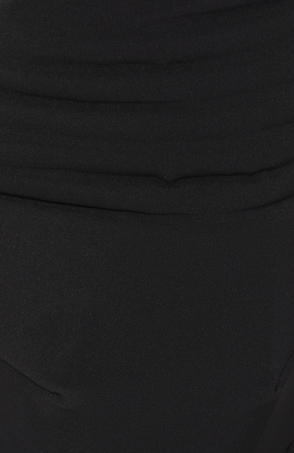 Мужские брюки BOTTEGA VENETA черного цвета, арт. 595830/VA5S0   Фото 5 (Длина (брюки, джинсы): Стандартные; Случай: Повседневный; Материал внешний: Синтетический материал; Материал подклада: Вискоза; Стили: Минимализм)